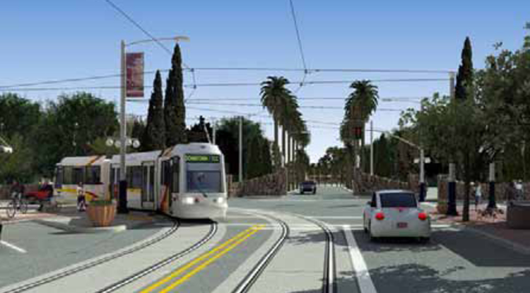 University Boulevard was under construction for the Tucson Modern Streetcar Project for much of the summer.