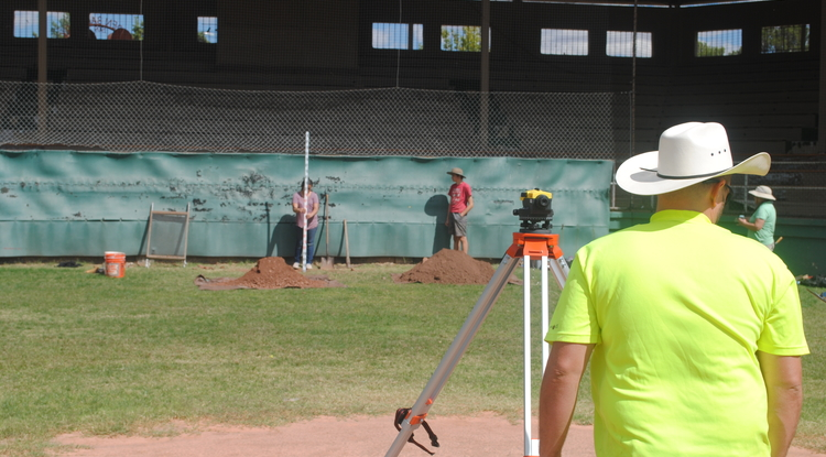 The archaeological dig at Warren Ballpark in Bisbee is now concentrating near the dugouts and right behind home plate, to see what customers in the good seats might have dropped, according to UA professor Robert Schon.