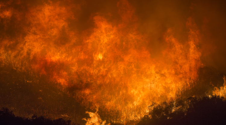 The Thomas Fire devastated parts of California in 2017, burning 281,893 acres, destroying 1,063 structures and damaging 280 more. (Photo: U.S. Forest Service)
