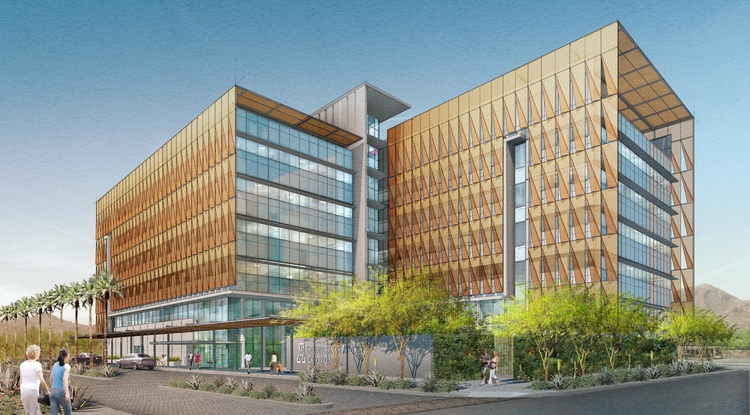 Rendition of the UA Cancer Center-Phoenix.