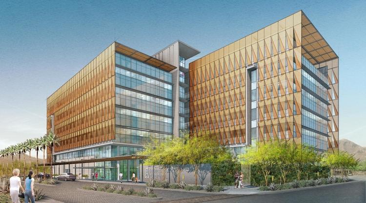 Rendition of the UA Cancer Center-Phoenix.