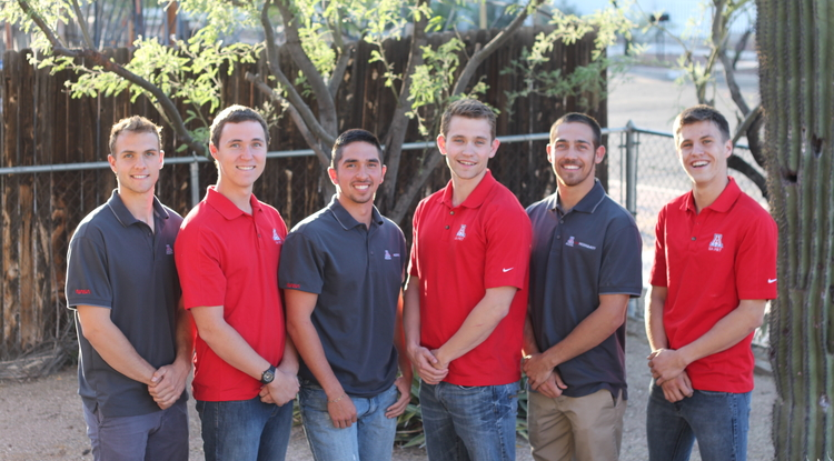 The UA Microgravity Research Team, from left: Ruben Adkins, aerospace engineering; Dustin Groff, chemical engineering; Michael McCabe, mechanical engineering; Justin Hacnik, molecular and cellular biology; Andrew Jimenez, chemical engineering; and Kellin Rumsey, mathematics, computer science and chemical engineering.