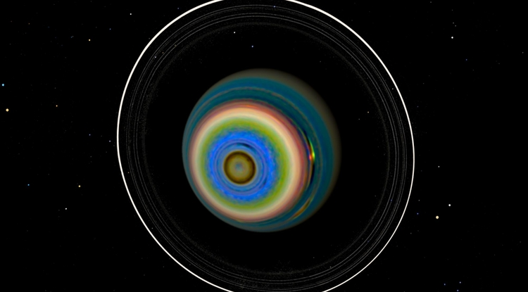 By enhancing contrast and teasing out previously hidden information in images taken by the Voyager-2 spacecraft, LPL scientist Erich Karkoschka discovered that Uranus' southern hemisphere is anything but bland. (Image: Erich Karkoschka)