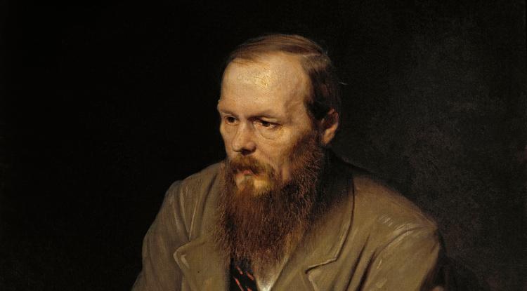 A portrait by Vasily Perov of Fyodor Dostoevsky, a popular 19th-century Russian writer