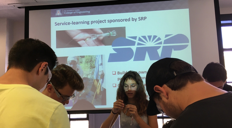 UA engineering freshmen make water purifiers bound for Puerto Rico residents.