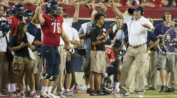 Arizona upset No. 18 Oklahoma State last weekend. (Photo courtesy of Arizona Athletics)