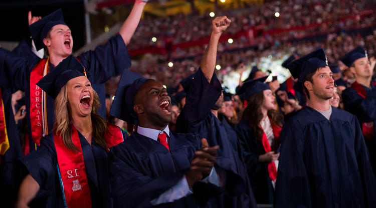 About 4,000 graduates attended the UA's 150th Commencement ceremony. (Photo credit: Jacob Chinn/UA Alumni Association)