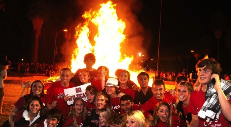 The annual bonfire signals the kickoff of Homecoming weekend.