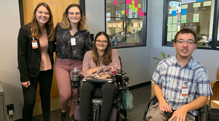 From left: UA students Ava Garcia, Rocky Baier, Erin Thomson and Phillip Bramwell (Photo: Michael McKisson)
