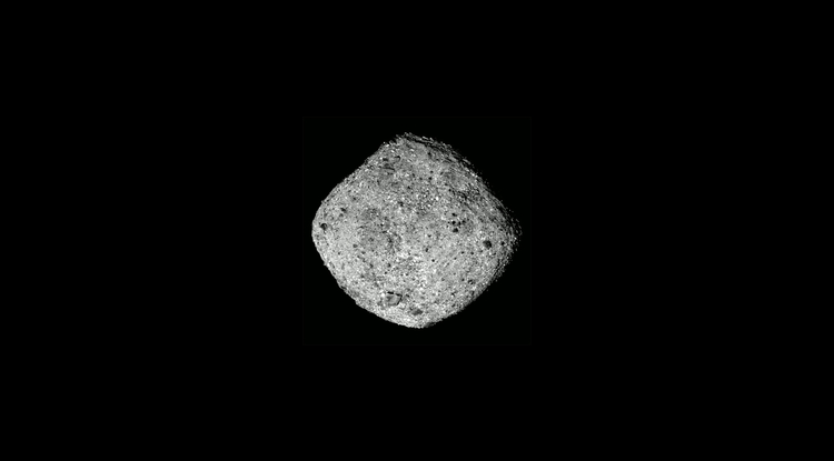 This image of Bennu was taken by the OSIRIS-REx spacecraft from a distance of around 50 miles (80 km). (Photo: NASA/Goddard/University of Arizona)
