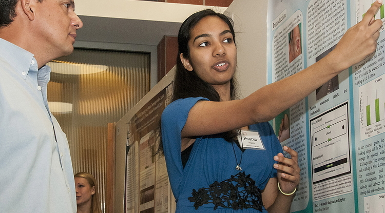 Poorva Rajguru became involved in the KEYS program as a high school student, presenting her research during the 2012 Student Research Showcase. (Photo credit: Bill Lax)