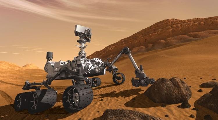 Curiosity Mars rover artist's concept.