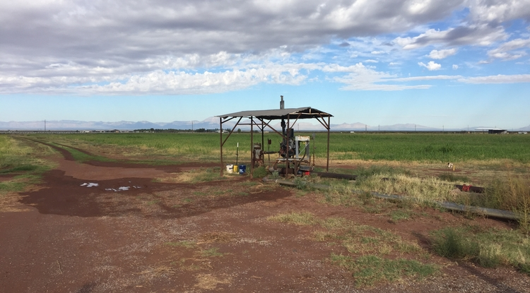 A groundwater well near Estancia, New Mexico. (Photo: Debra Perrone)