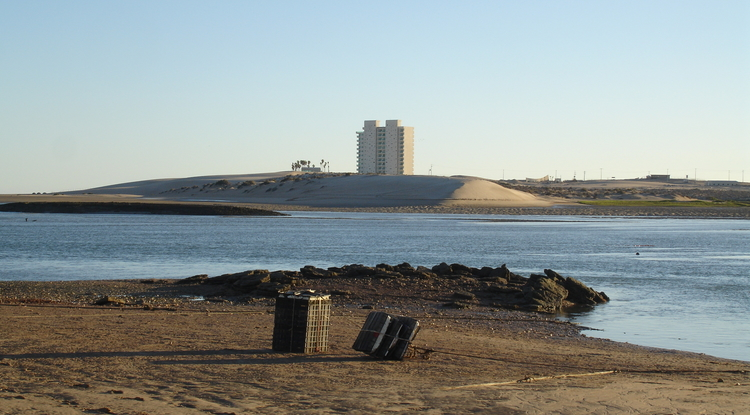 With desalination, Morua Estuary in Sonora, Mexico, is likely to be built out with more hotels and tourism growth.