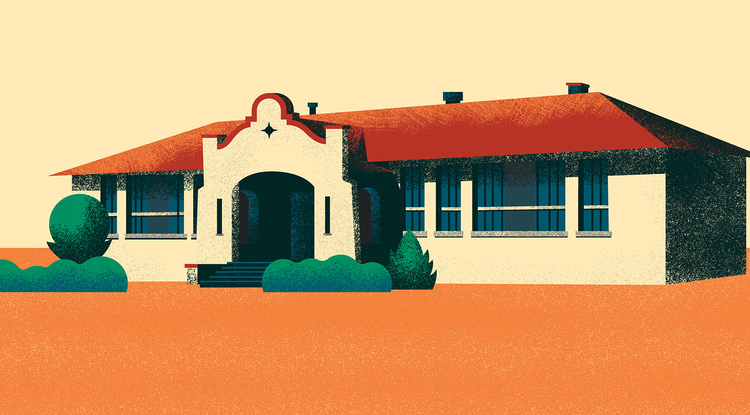 A graphic illustration of the Dunbar School in the 1950s. (Image: Eddie Canto)