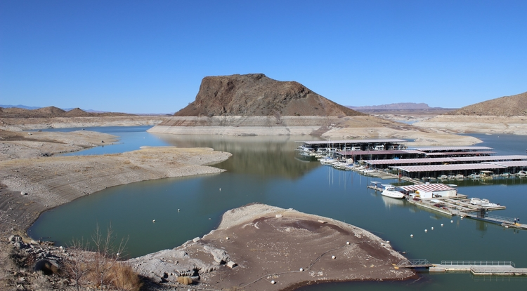 New Mexico's Elephant Butte reservoir is one example of the kinds of buffers the CLIMAS team will study. (Photo: David DuBois/New Mexico State University)