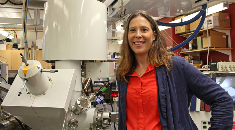 Erin Ratcliff is leading a project to develop new ways of collecting and analyzing the clues sweat has to offer. (Photo: College of Engineering)