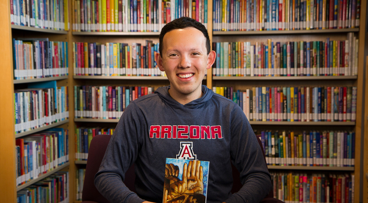 Gabriel Martinez transferred to the UA to pursue a bachelor's degree in deaf studies, which he will receive in May. (Photo: Mari Cleven/UA Office of Research, Discovery & Innovation)