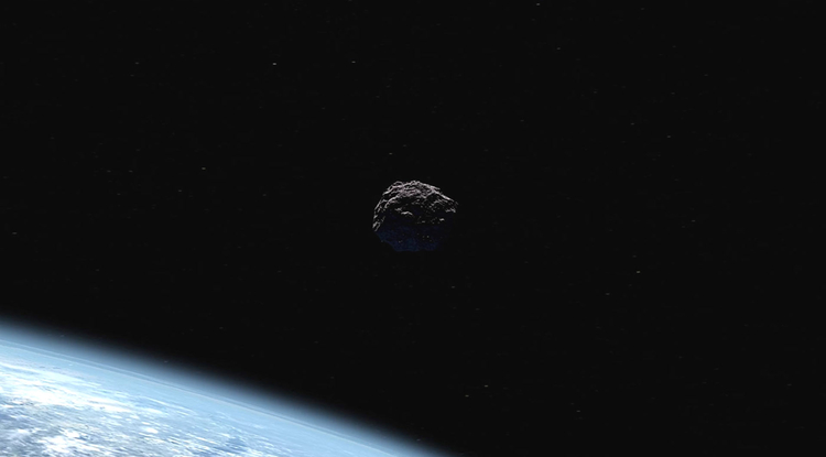 Artist's concept of a near-Earth object. (Credit: NASA/JPL-Caltech)
