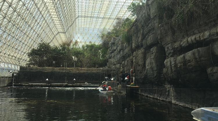 Students from Kyoto University in Japan and across Arizona participated in hands-on research in Biosphere 2's ocean biome. (Photo: Martin Pepper)