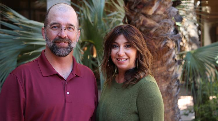 Jason Dewland and Yvonne Mery of the UA Libraries and Sidecar Learning. (Photo: Paul Tumarkin/Tech Launch Arizona)
