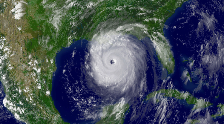 Hurricane Katrina on Aug. 28, 2005 (Credit: NOAA)