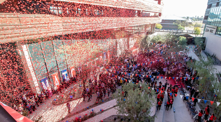 Fourth-year students at the UA College of Medicine – Phoenix celebrated as they found out where they will continue their journey as physicians-in-training. (Photo: UA College of Medicine – Phoenix)