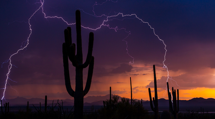 Monsoon storms are definitely on their way to Southern Arizona, though predictions of when they will start vary. (Photo: Pete Gregoire/NOAA Weather in Focus Photo Contest 2015)