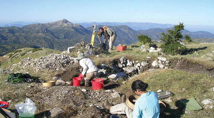 The project provides a rich training ground for aspiring archaeologists. During excavation years, more than 35 students work at the site. The researchers are exploring the relationship between Mt. Lykaion and the more famous sanctuary of Zeus at Olympia, only 22 miles away. Since there is now evidence that the sanctuary at Mt. Lykaion existed first, they think it is possible that Mt. Lykaion was the model for the sanctuary at Olympia.