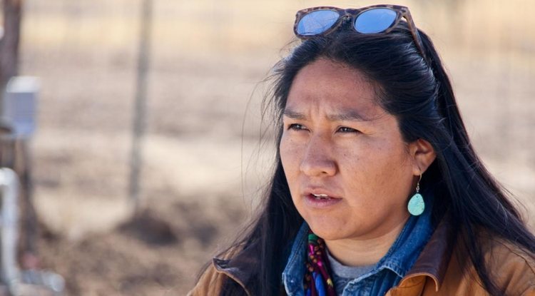 """Carrie Curley, Nalwoodi Denzhone Community board member and San Carlos Apache: """"Water is life, and we want clean water."""" (Photo: Pete Brown/UA College of Engineering)"""
