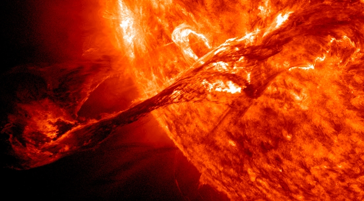 What would happen if you threw an iceberg into the sun? Surprising as it may seem, physicists still aren't sure. (Image: NASA/SDO/AIA, NASA/STEREO, SOHO/ESA/NASA)