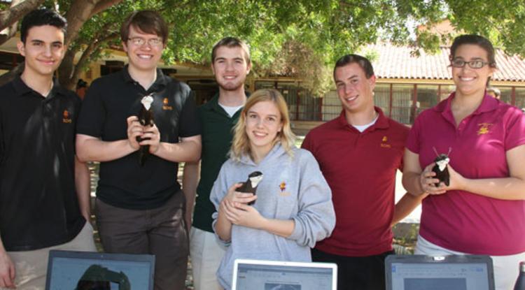 Team Tweeting Otter: Engineering 102 students at Tucson's Salpointe High School.