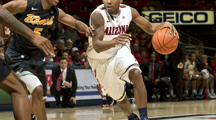 UA senior guard Mark Lyons.  (Photo by Luke Adams)