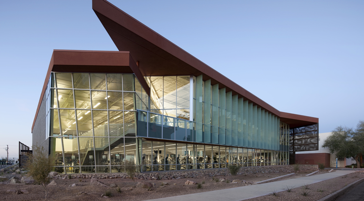 The UA Student Recreation Center is the first in the nation to earn LEED platinum certification, the highest LEED rating a building can achieve. (Image courtesy of Joe Abraham)