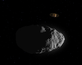 Bennu's flyby of Saturn. (Image:NASA's Goddard Space Flight Center Conceptual Image Lab)