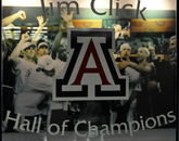 While current and former UA student-athletes preparing for the summer Olympics and Paralympic Games, the Jim Click Hall of Champion documents the accomplishments of some of their Wildcat predecessors. The mezzanine, located on the north end of the McKale Memorial Center, features more than 100 years of UA athletics. (Photo credit: Patrick McArdle/UANews)