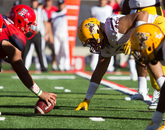 The Wildcats stopped ASU on fourth down with 1:07 left in the game. Arizona took over and got in victory formation to seal the win.