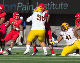 The UA defense finished with seven sacks on the day, including two each from linebacker Scooby Wright and lineman Dan Pettinato.