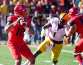 """Anu (Solomon) toughed it out. He was gutty, made a couple big throws. Anu's a competitor and he's a great leader for being a young redshirt freshman,"" said head coach Rich Rodriguez."