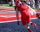 Safety Jared Tevis went out with a win in his final home game.
