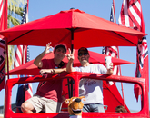 Fans represent Wildcat Country.