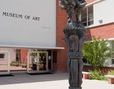 """The UA Museum of Art is currently showing """"The Lebowski Cycle,"""" by UA School of Art alumnus Joe Forkan, featuriing a series of paintings and drawings exploring narratives using masterpieces of European art and the 1998 Coen Brothers' film, """"The Big Lebowski,"""" as a starting point. Also showing is """"Revolutionary Dreams: Modern Mexican Prints,"""" featuring works by artists such as Leopoldo Mendez, Rufino Tamayo and Diego Rivera from UAMA's permanent collection. (Photo credit: Patrick McArdle/UANews)"""