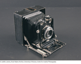 A 4- by 5-inch Graflex camera in the Ansel Adams Archive. Adams used the Graflex Century Universal View camera for many of his photographs.