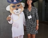 "UA student Narry Savage with ""Dr. Wilbur."""