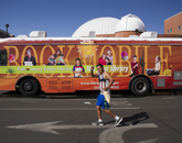 Alan Ferniza of Tucson makes his way to the books festival.