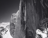 """""""Monolith, the Face of Half Dome, Yosemite National Park"""" was taken around 1927, becoming one of the most iconic images ever taken by Adams."""