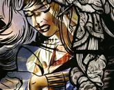 """""""Akin's Annunciation,"""" lithograph, 2013"""