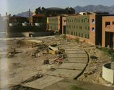 Construction of part of the Highland Commons in the 2004 UA yearbook.