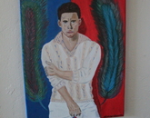 """A painting titled """"Magic Mike"""""""