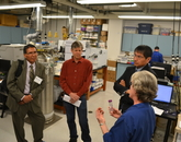 Members of the UA team and Navajo Nation tour the Arizona Laboratory for Emerging Contaminants.